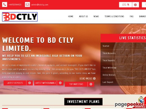 HYIP Investment Program:BD CTLY LIMITED