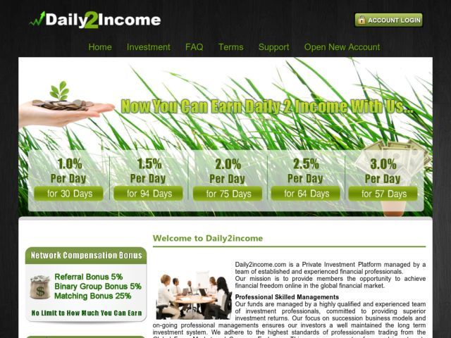 HYIP Investment Program:Daily2income