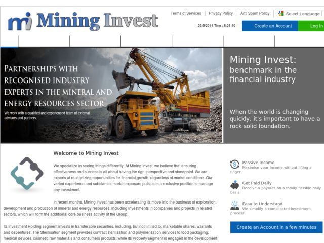 HYIP Investment Program:Mining Invest