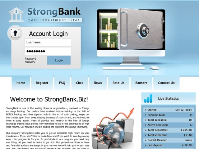 HYIP Investment Program:StrongBank
